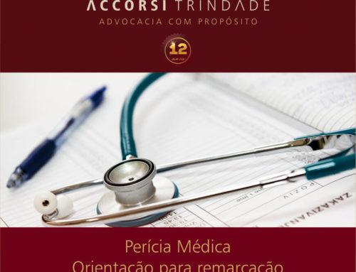 Orientações para remarcação de perícias médicas